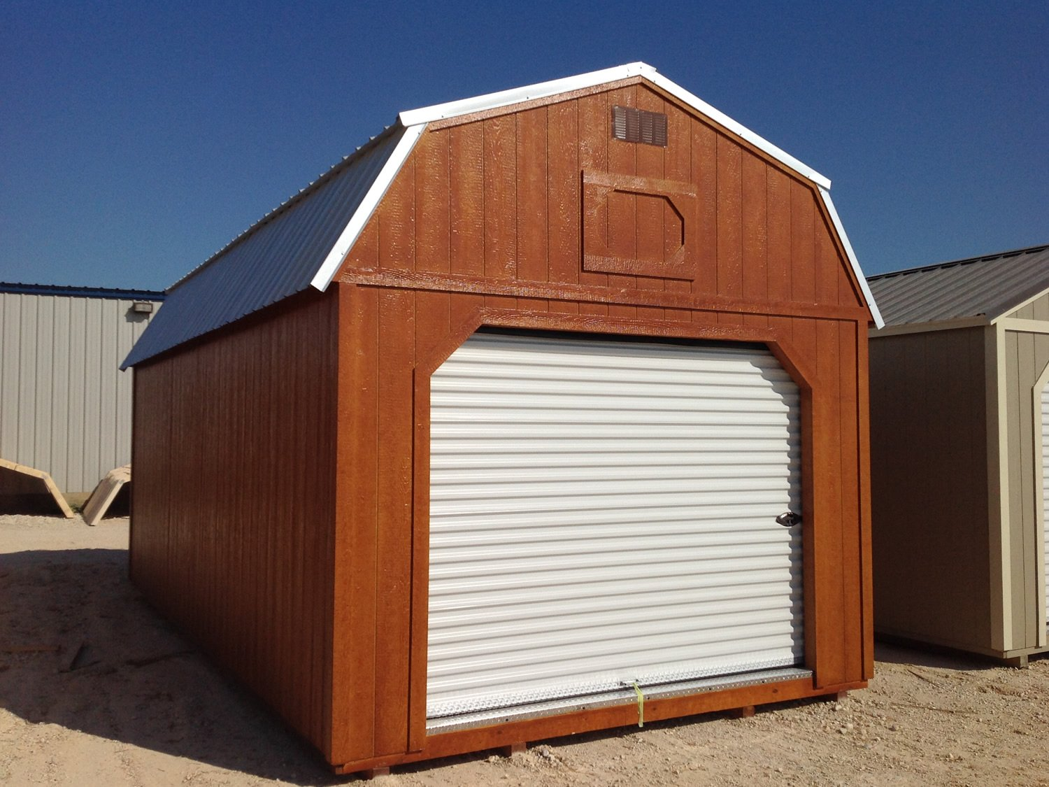 Derksen Portable Lofted Barn Garage