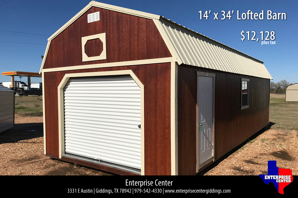 14′ x 34′ Derksen Portable Lofted Barn